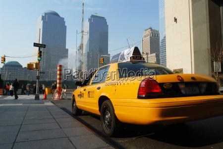 taxi transporte mainhattan taxe nyc amerika