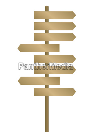 simbolico grafico objetivo poste indicador richtungsweiser
