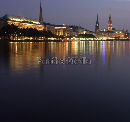 igreja hamburgo prefeitura alster jungfernstieg binnenalster