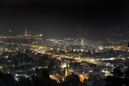 ciudad invierno noche tarde ver estudio