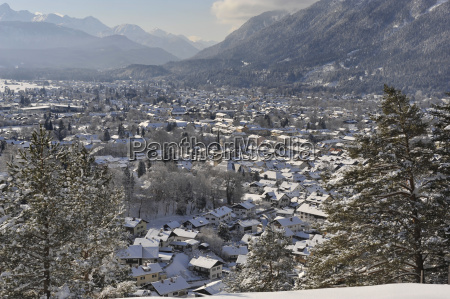 ciudad invierno alpes nieve ver estudio