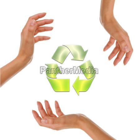 senyal mano medio ambiente proteger ecologia