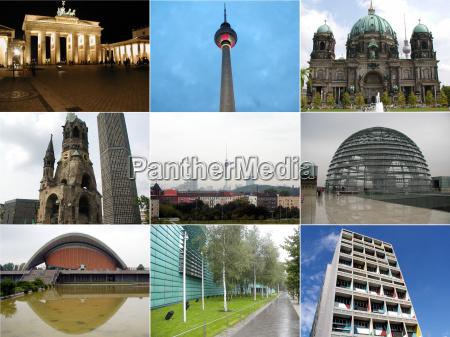 torre brandenburgo berlin collage tv viendo