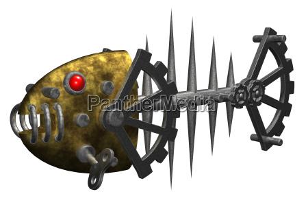 de hierro metal esqueleto espina de
