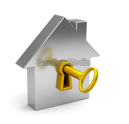 casa abstracta con claves