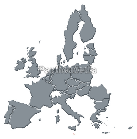 mapa de la union europeamalta destaco