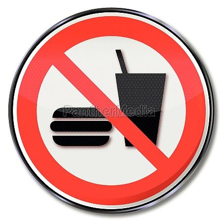 muestra de la prohibicion para cenar