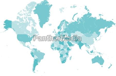 azul mapa pais globo tierra frontera