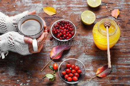 remedio, de, bayas, y, miel - 18989415