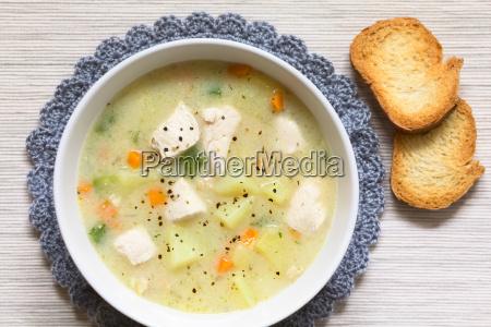 chicken and potato chowder soup