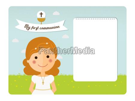 my first communion invitation