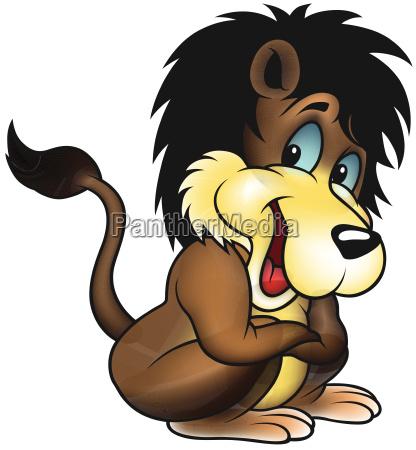 brown smiling lion