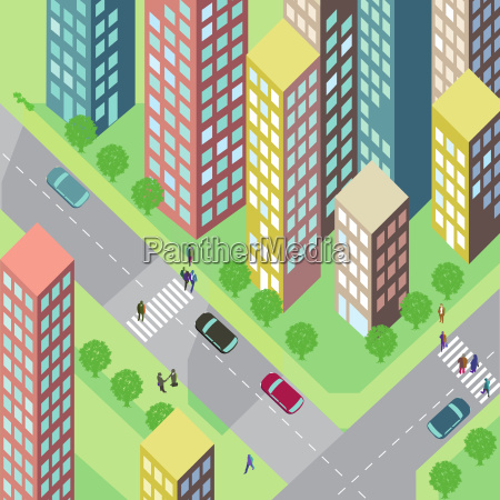 street with houses and cars