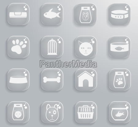 goods for pets icons