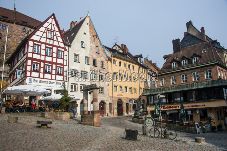 half timbered houses and open air