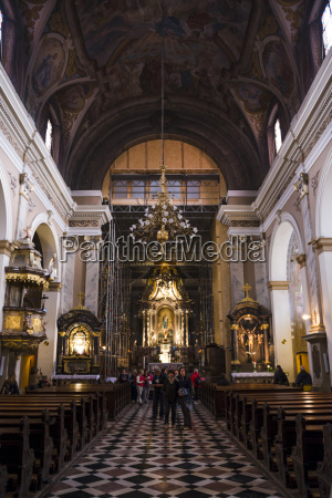 inside the franciscan church of the