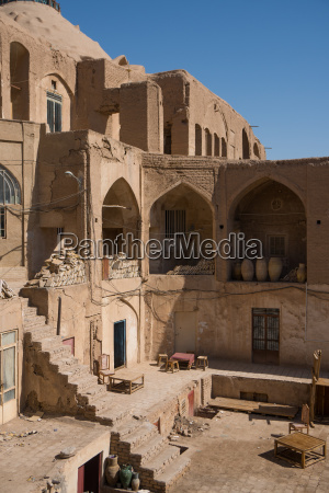 courtyard in the old bazaar kashan