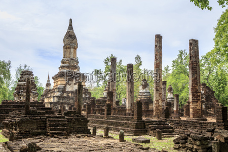 buddhist chedi stupa and temple in