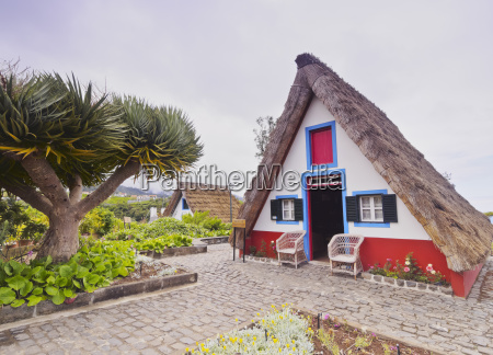 traditional rural house in santana madeira