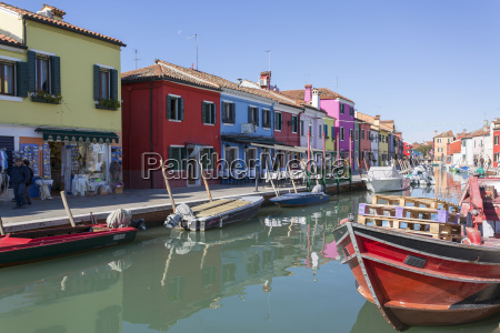 canal and colourful facades burano veneto