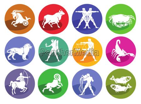 astrology horoscopeicon set