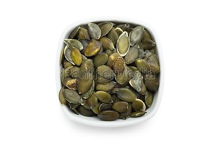 semillas de calabaza asadas en blanco