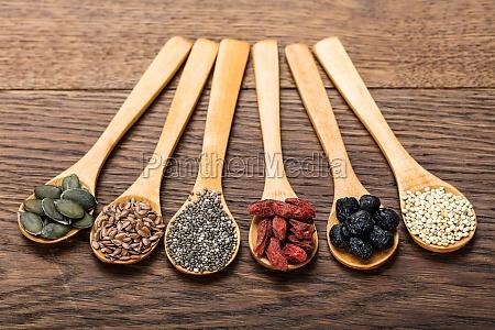 comida salud madera seco diferente diferentes