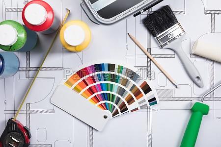 color pintor muestra colorante muestras de